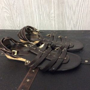 Brown Enzo Angiolini Strap Sandals -  Size 7 1/2